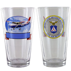 Civil Air Patrol: Personalized Pint Glass w/ CAP Seal & Cessna