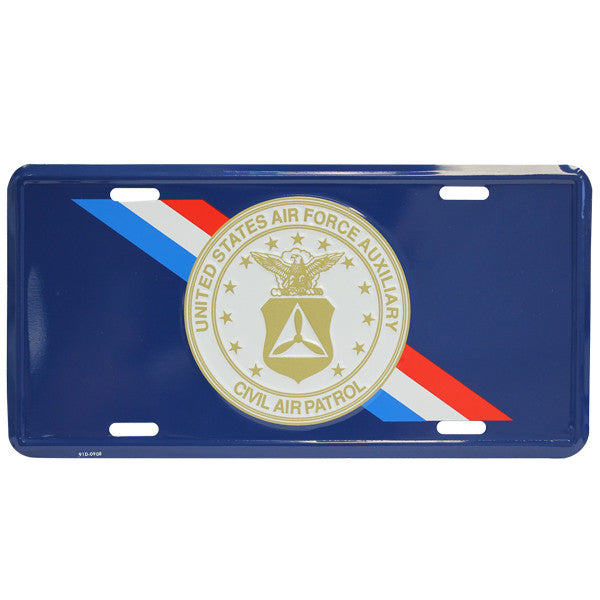 Civil Air Patrol License Plate: Blue CAP License Plate