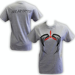 Civil Air Patrol T-Shirt: Heather Grey w/ screened Black Tribal Logo