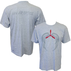 Civil Air Patrol T-Shirt: Heather Grey w/ screened Grey Tribal Logo