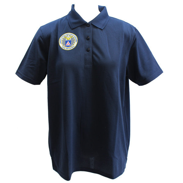 Civil Air Patrol Uniform: Golf Shirt with Seal - female **PLEASE CHECK THE SIZE MEASUREMENTS**