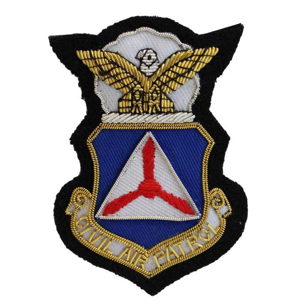 Civil Air Patrol Blazer Name Plate: Embroidered CAP Crest