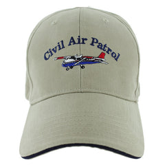 Civil Air Patrol: Ball Cap Khaki with Cessna