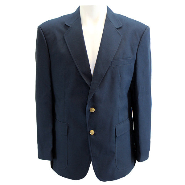 Male Cut Simple Navy Blue Blazer
