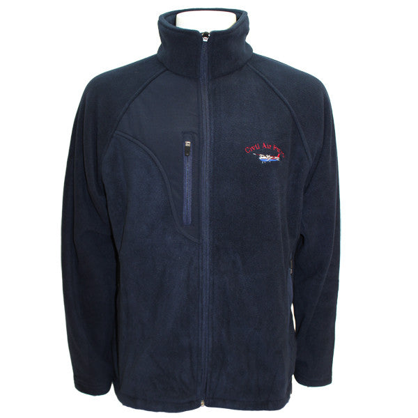 Civil Air Patrol: Blue Fleece Jacket w/embroidered Cessna