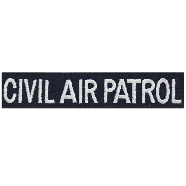Civil Air Patrol Tape: Civil Air Patrol with black hook closure for Fleece jacket (New Insignia)
