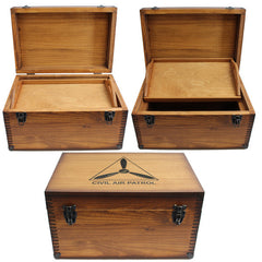 Civil Air Patrol: Wood Chest w/Logo