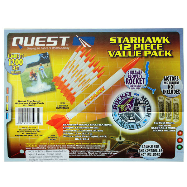 Civil Air Patrol Model Rocketry: Starhawk Value Pack of 12 Rockets