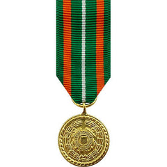 Miniature Medal- 24k Gold Plated: Coast Guard Achievement