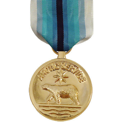 Full Size Medal: Coast Guard Arctic Service - 24k Gold Plated
