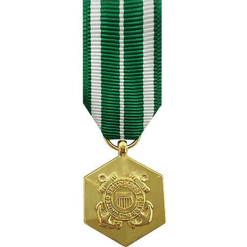 Miniature Medal- 24k Gold Plated: Coast Guard Commendation