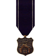 Coast Guard miniature Medal: Expert Pistol