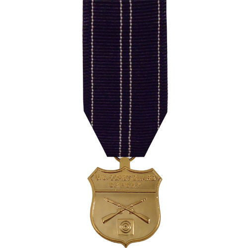 Miniature Medal- 24k Gold Plated: Coast Guard Expert Rifle