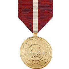 Full Size Medal: Coast Guard Good Conduct - 24k Gold Plated