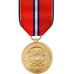 Full Size Medal: Coast Guard Reserve Good Conduct - 24k Gold Plated