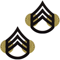 Army Chevron: Staff Sergeant - black metal
