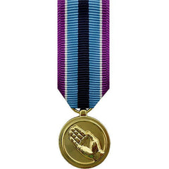 Miniature Medal: Humanitarian Service - anodized