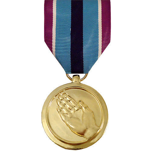 Full Size Medal: Humanitarian Service - anodized