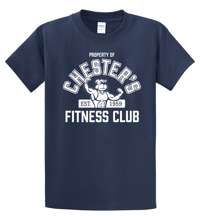 Chester's Fitness Club T-Shirt: Navy Blue, Ladies