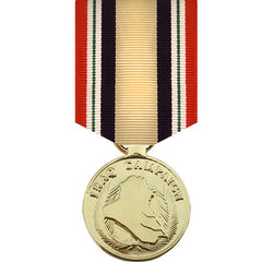 Full Size Medal: Iraq Campaign Medal - 24k Gold Plated