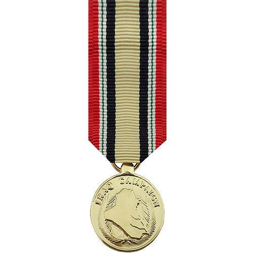 Miniature Medal: Iraq Campaign - 24k Gold Plated
