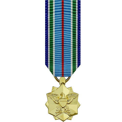 Miniature Medal: Joint Service Achievement - 24k Gold Plated