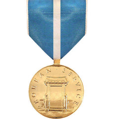 Full Size Medal: Korean Service - 24k Gold Plated