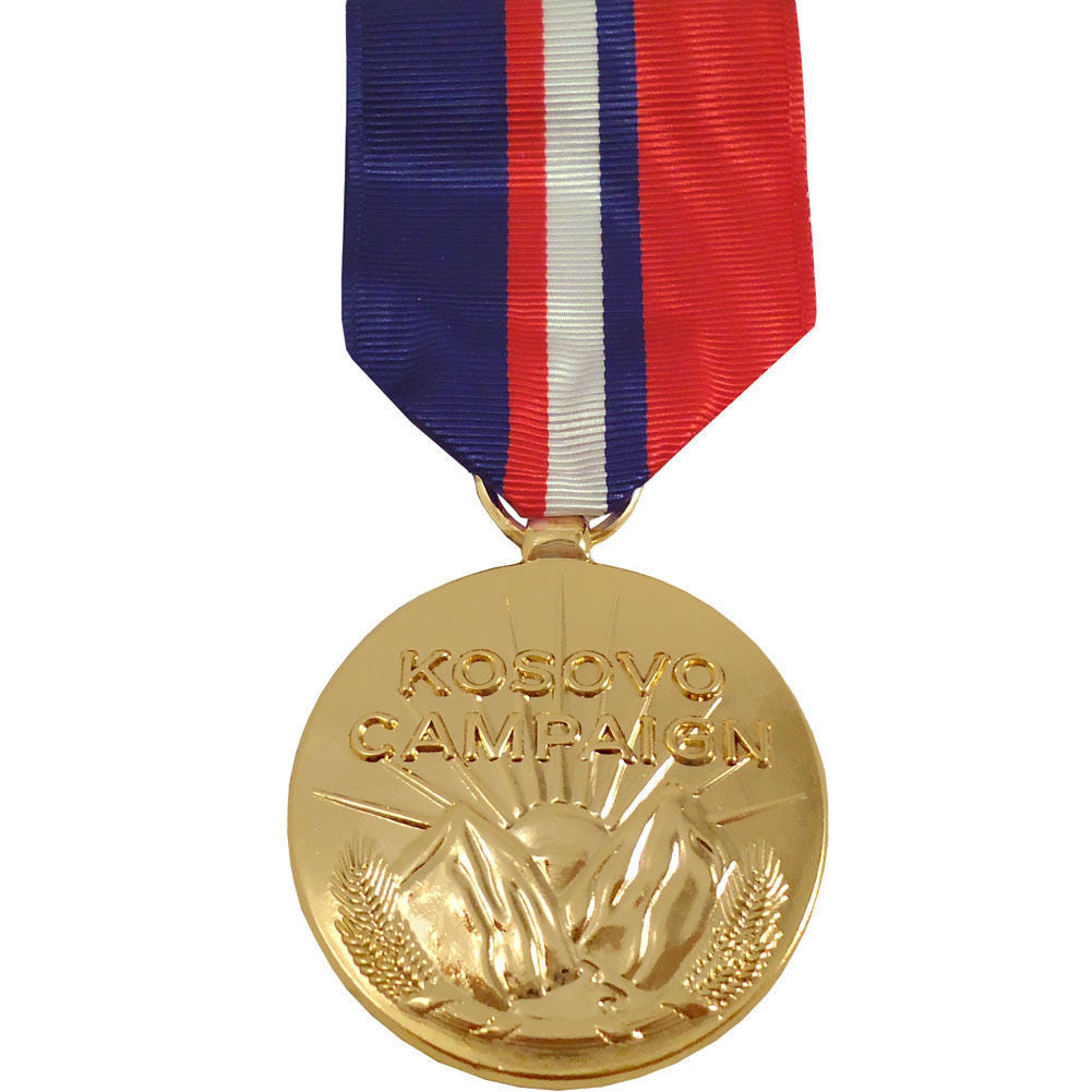 Full Size Medal: Kosovo Campaign Medal - anodized