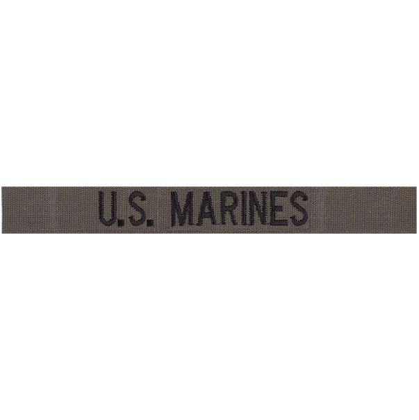 U.S. Marines Name Tape: Embroidered on Olive Drab