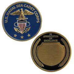 Naval Sea Cadets Appreciation Coin -bronze