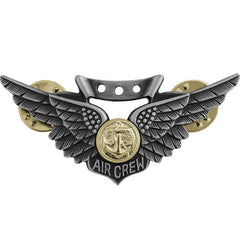 Badge: Combat Aircrew - regulation size oxidized finish
