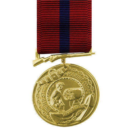 Full Size Medal: Marine Corps Good Conduct - 24k Gold Plated