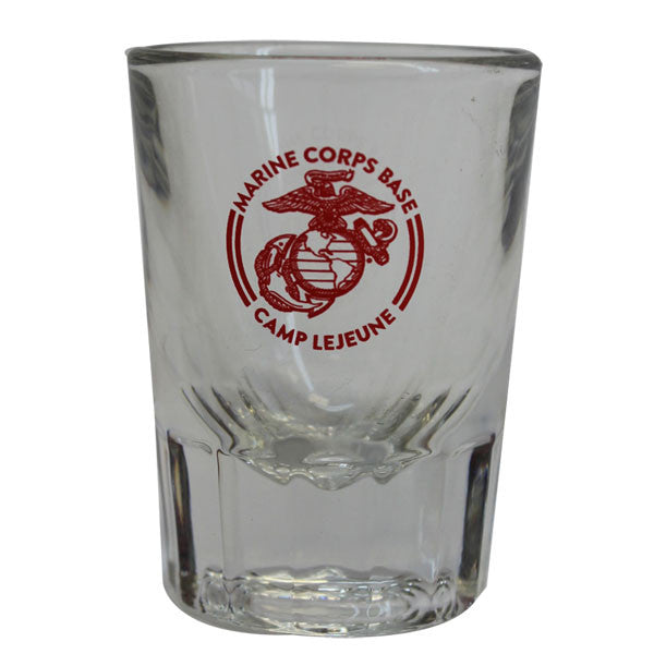 Marine Corps Shot Glass - Camp Lejeune 2oz