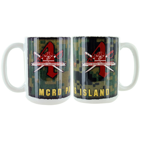 Marine Corps Mug -  Parris Island 4th Recruit Battalion
