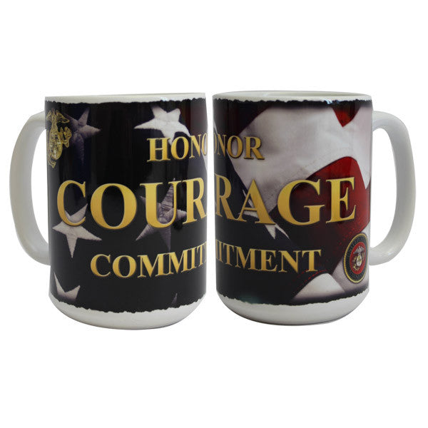 Marine Corps Mug -  Honor, Courage, Commitment  15oz