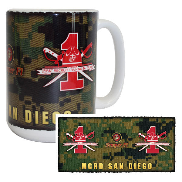 Marine Corps Mug -  MCRD San Diego 1st Recruit Training Battalion