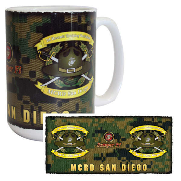 Marine Corps Mug -  MCRD San Diego 2nd Recruit Training Battalion