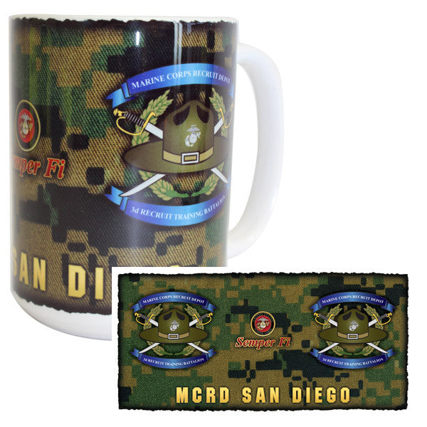Marine Corps Mug -  MCRD San Diego 3rd Recruit Training Battalion