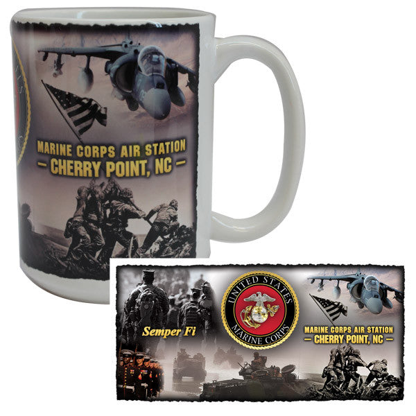 Marine Corps Mug -  USMC Cherry Point