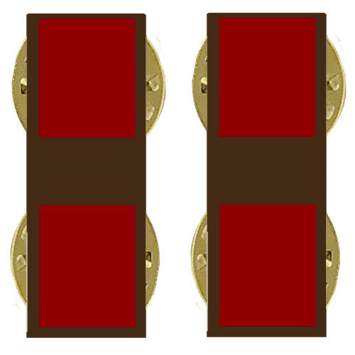 Marine Corps Collar Device: Warrant Officer 1 - subdued metal