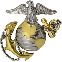 Marine Corps Cap Device: Officer - regulation size