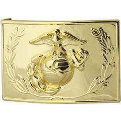 Marine Corps Dress Buckle - 24K Gold Plated with emblem and wreath