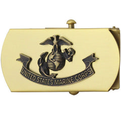 Marine Corps Belt Buckle: Bronze with Emblem