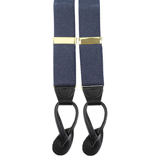 Army Suspenders: Adjutant General - leather ends