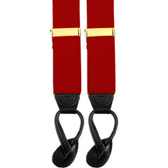 Army Suspenders: Artillery - leather ends