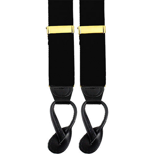 Army Suspenders: Chaplain - leather ends