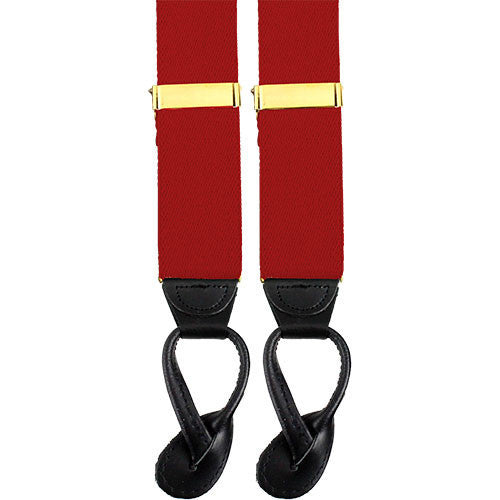 Army Suspenders: Engineer - leather ends