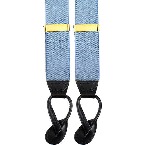 Army Suspenders: Infantry - leather ends