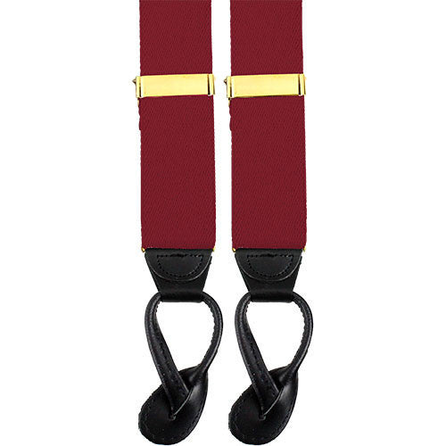 Army Suspenders: Ordnance - leather ends