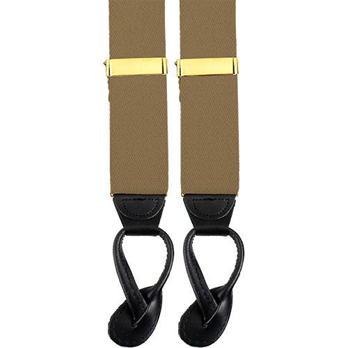 Army Suspenders: Quartermaster - leather ends